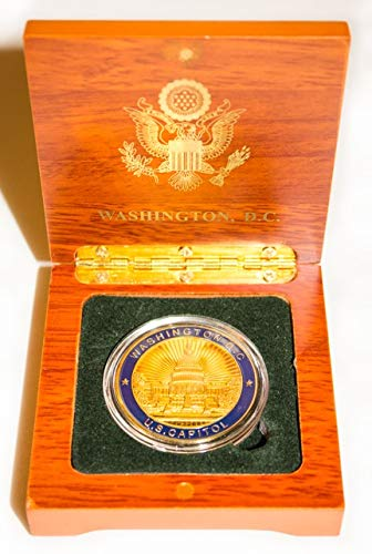 Homes Gold Seal (U.S. Capitol Presidential Seal Coin Blue and Gold in Wood Box - Collectible)