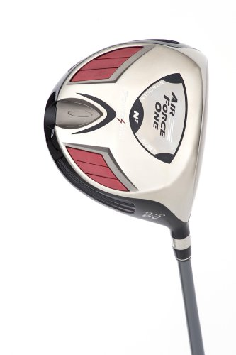 PowerBilt Air Force One Players Driver (Men's Left Hand, 10.5 Degrees Loft, Stiff Flex, 90-105 MPH) (Powerbilt Air)