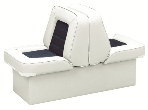 Wise 8WD505P-1-924 Deluxe Bucket Style Lounge Seat (White/Navy) by Wise