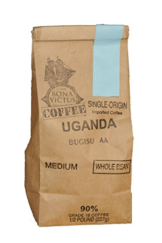 Coffee Bean Uganda Single Origin Bugisu AA Whole Bean Medium Roast 1 Lb