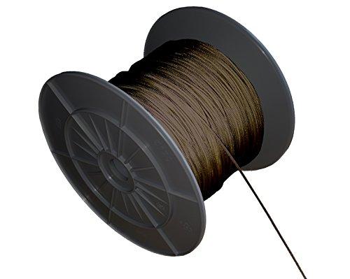 EFIXS Zugschnur für Holzjalousien ~ Farbe: dunkelbraun ~ Länge 10 Meter ~ Ohne Rolle