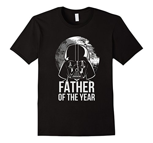Mens Star Wars Vader Father Of The Year Dad Graphic T-Shirt 2XL Black