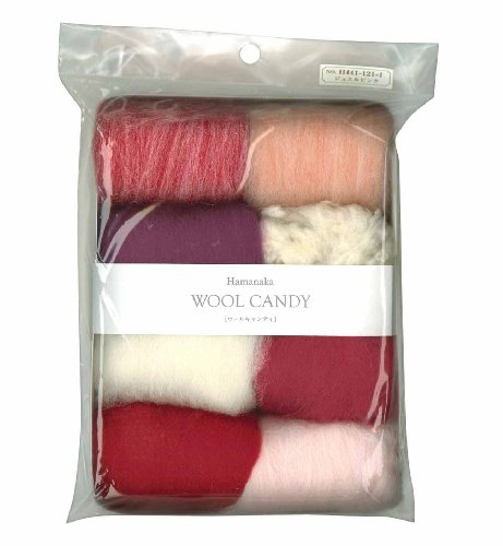 Wool Jewel (Hamanaka wool Candy 8 color set (Jewel Pink) # 1 (japan import))