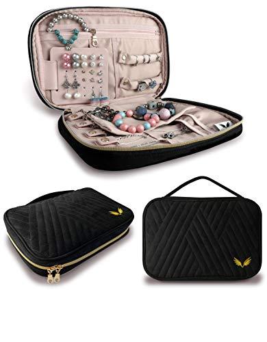 LONSKY Jewelry Travel Organizer is handy to store jewelry, to take jewelry in travel - Jewelry'll never get confused! New model Jewelry Rolls - Favourite jewelry always near at hand - Best Jewelry Bag