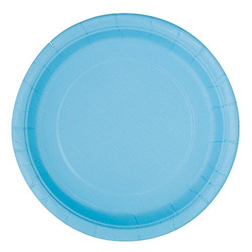 light blue dinner plates - 4