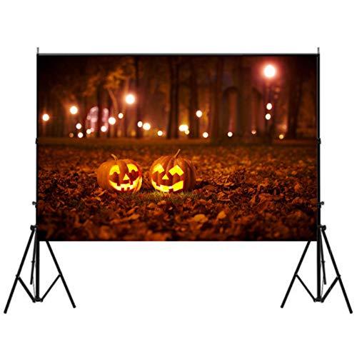 5 x 7ft Photography Backdrops Halloween Night Pumpkin Vinyl Background Studio]()