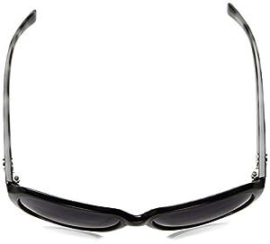 DKNY Women's Nylon Woman Polarized Square Sunglasses, Black, 59 mm