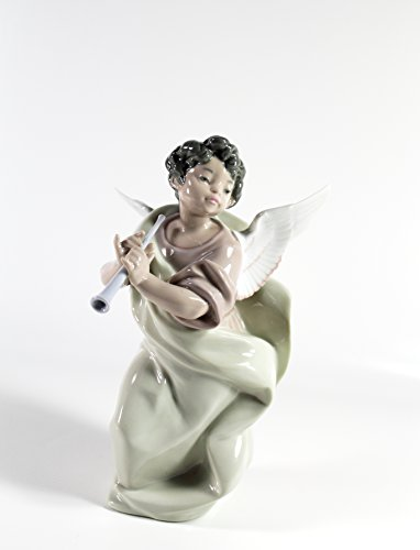 Lladro ''Angel with Clarinet'' Collectible Figurine #05494 Retired Glazed Finish by Lladro