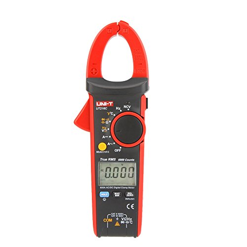 Price comparison product image UNI-T UT216C 600A True RMS Digital Clamp Meters Auto Range w / Frequency Capacitance Temperature & NCV Test by Uni-T