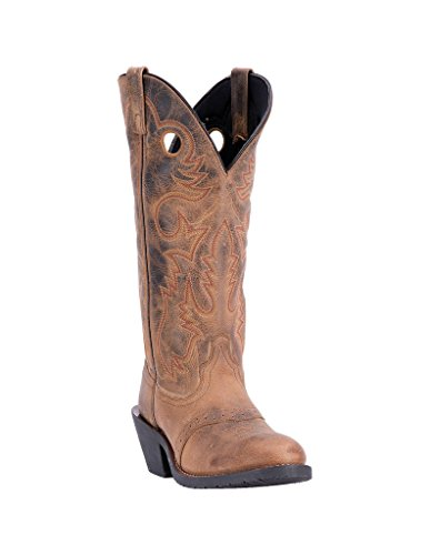 - Laredo Western Boot Mens Hank Round Buckaroo 13 D Distressed Tan 62053