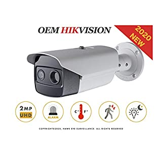 Thermal-Optical DeepinView Network Bullet Camera - Compatible with Hikvision DS-2TD2617-V1