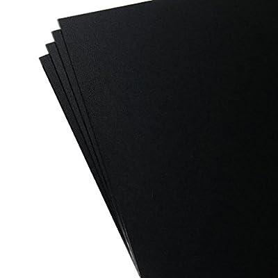 "4 Pack Kydex Plastic Sheet Black 8"" X 12"" X .080"""