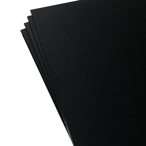 Plastics 2000 - KYDEX Sheet - 0.080'' Thick, Black, 8'' x 12'', 4 PACK by Plastics 2000