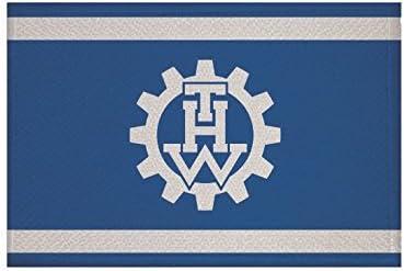 U24 Aufn/äher THW Technisches Hilfswerk Fahne Flagge Aufb/ügler Patch 9 x 6 cm