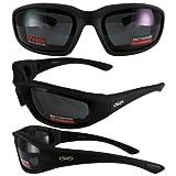Global Vision Eyewear Kickback Sunglasses with EVA Foam, Clear Lens