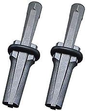Chiloskit - Cuña de enchufe y plumas, separador de piedra, cuñas y cuñas de plumas, herramienta de mano para hormigón, piedra, 14 mm, 2 unidades
