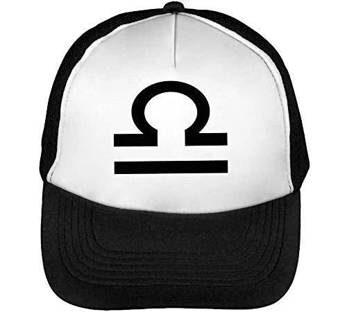 Beisbol Hombre Sign Libra Blanco Negro Snapback Gorras Zodiac wAXAnHq5t
