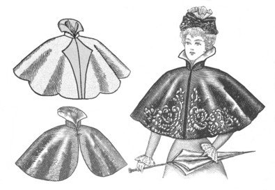 Guide to Victorian Civil War Costumes on a Budget  1890s Victorian Cape Pattern                               $11.50 AT vintagedancer.com