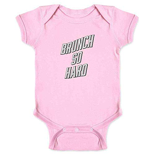 Pop Threads Brunch So Hard Funny Pink 18M Infant Bodysuit