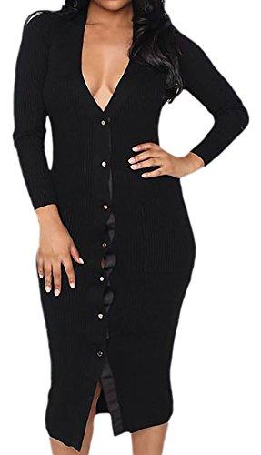erdbeerloft - Vestido - Estuche - Opaco - para mujer negro