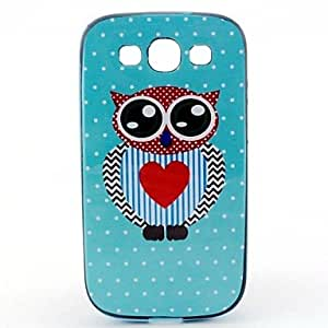 QYF 20150511 Wave Point Owl Pattern Back Case Cover for Samsung Galaxy S3 I9300