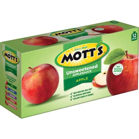 Mott's Unsweetened Applesauce, 3.2 oz, 12 count - 3 Pack by by Mott's (Image #1)