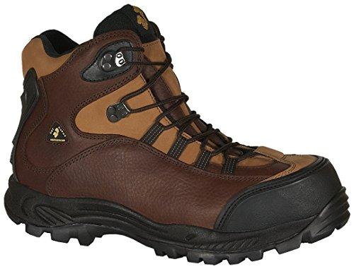 Golden Retriever Men's Safety Toe Waterproof Hiker,Brown,8 M US -