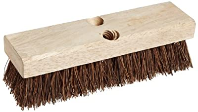 "Weiler 44026 Palmyra Fill Deck Scrub Brush with Wood Block, 10"" Overall Length"
