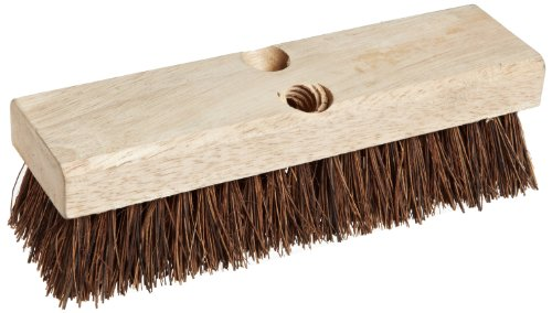Weiler 44026 Palmyra Fill Deck Scrub Brush with Wood Block, 10