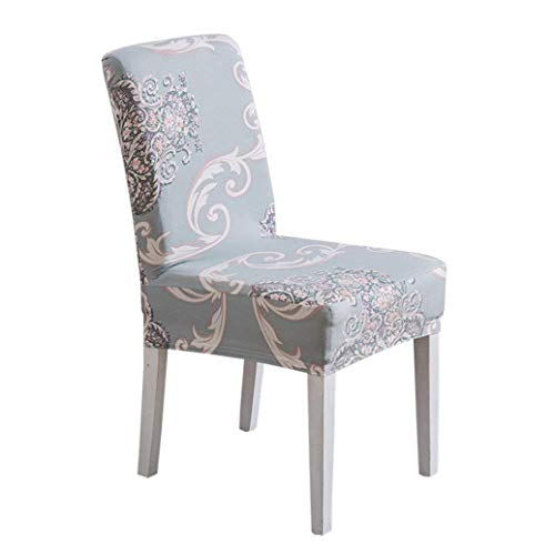 Drew Toby Chair Covers Spandex Fit Stretch Fabric Short Dining Room Printed Pattern Banquet Protector Slipcover Removable seat Cover