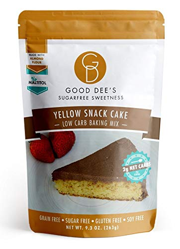 Good Dee's Yellow Snack Cake Mix - Low Carb, Keto Friendly, Diabetic Friendly, Sugar Free, Gluten Free (Yellow Cake Mix Chocolate Chip Cookie Recipe)