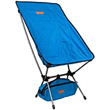 Trekology YIZI HIGH BACK Portable High Back Camping Chairs with Head Rest - Compact Ultralight Heavy Duty Backpacking Chair with Carry Bag & Full Back Support for Hiker, Camp, Beach, Fishing, Outdoor