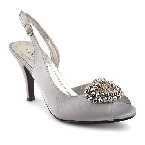 Footwear Sensation - Sandalias de vestir para mujer negro negro plata
