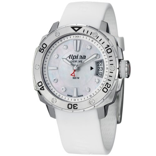 Alpina Adventure Extreme Diver Ladies Mother of Pearl Dial Diamond Watch AL-240LSD3V6