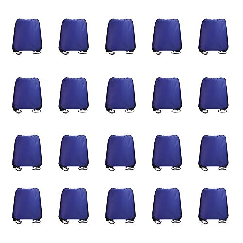 - IMI bag 20PCS Folding Ripstop Fabric Drawstring Backpacks for Gym Traveling Partys Promotional Sport Home Storage.NO Logo School Kids Bags (Royal Blue)
