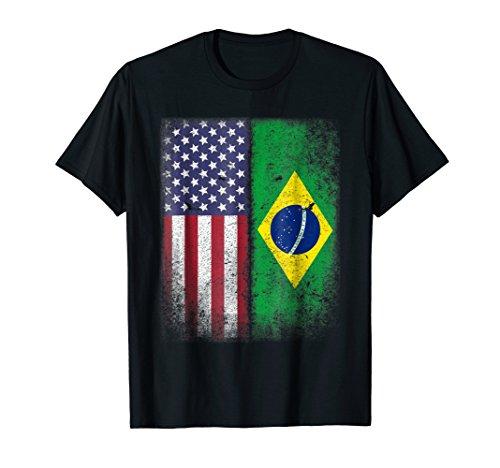 Brazilian American Flag T-shirt Brazil Pride Brasil