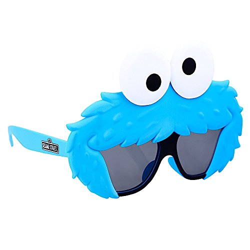 Sun-Staches Costume Sunglasses Lil' Characters Cookie Monster Party Favors UV400]()