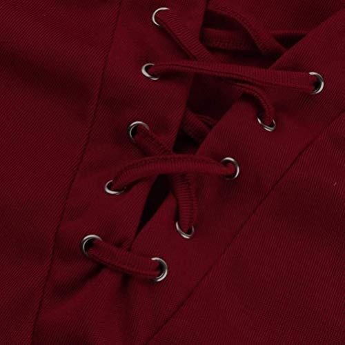 Donne Grazioso A Con Con Maniche Slim Fit Collo Maniche Lunghe Camicia Tshirt Colori Rot Camicetta Primaverile Donna Eleganti Lunghe Prodotto Plus Rotondo Off Shoulder Lacci Autunno Allentato Blusa Solidi zUdTUqxHw