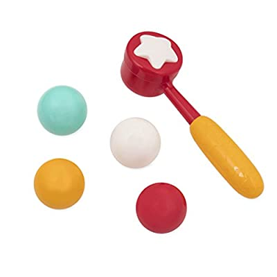 Battat – Pound & Roll – Baby Activity Toy Station with 1 Toy Hammer & 4 Balls for Kids 12 Months + (7-Pcs): Toys & Games