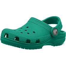 Crocs Classic Clog Kids Roomy fit, Zuecos Unisex niños, Verde (Deep Green 3tj), 23/24 EU