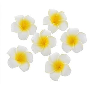 100 Pcs Diameter 3.5 Inch Artificial Plumeria Hawaiian Foam Flower For Wedding Party Home Decoration 4
