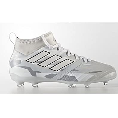 09219c1f6d4af Image Unavailable. Image not available for. Color: adidas JR Ace 17.1 FG  Clear Grey/White Camo Soccer Cleats ...