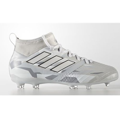 Adidas JR Ace 17.1 FG Clear Grey/White Camo Soccer Cleats...