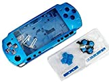 NEW Replacement Sony PSP 3000 Console Full Housing Shell Cover With Button Set -Blue.