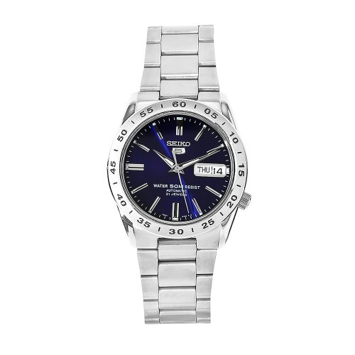 Seiko Men's SNKD99 5 Stainless Steel Blue Dial (5 Sports Automatic Blue Dial)