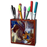 Before The Mirror By Edgar Degas Pencil Holder