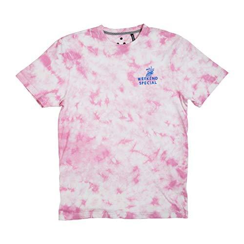 - Zak Brand Tie Dye Shirt for Men Streetwear Contemporary Fashion Weekend Special (Pale Lilac, L)