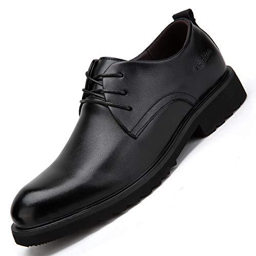 YXLONG Vier Jahreszeiten Einzelne Schuhe, Kleid Herrenschuhe Business-Schuhe, Herrenschuhe Aus Leder Spitze Freizeitschuhe Black