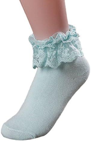 FELZ Calcetines Mujer Termicos Calcetines Mujer Invierno Otoño Calcetines Para Mujer Encaje Calcetines De AlgodóN Princesa Con Volantes: Amazon.es: Ropa y accesorios