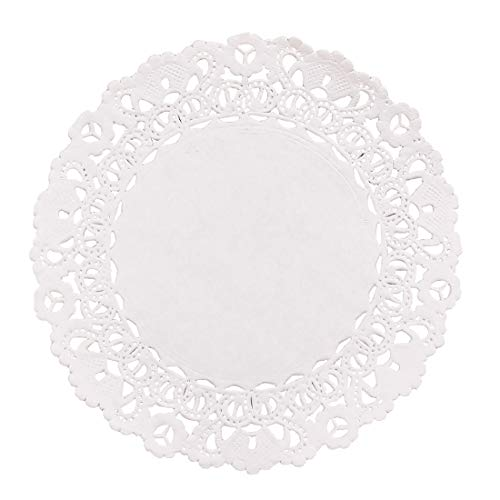 "Hygloss Products, Inc HYX10041 Products Round Paper Decorative, White Lace Doilies, Disposable, 4"" Diameter, 100 Pack, 4-Inch, from Hygloss"